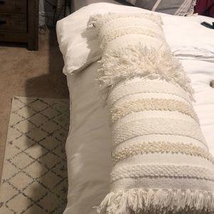 Anthropologie lumbar pillow